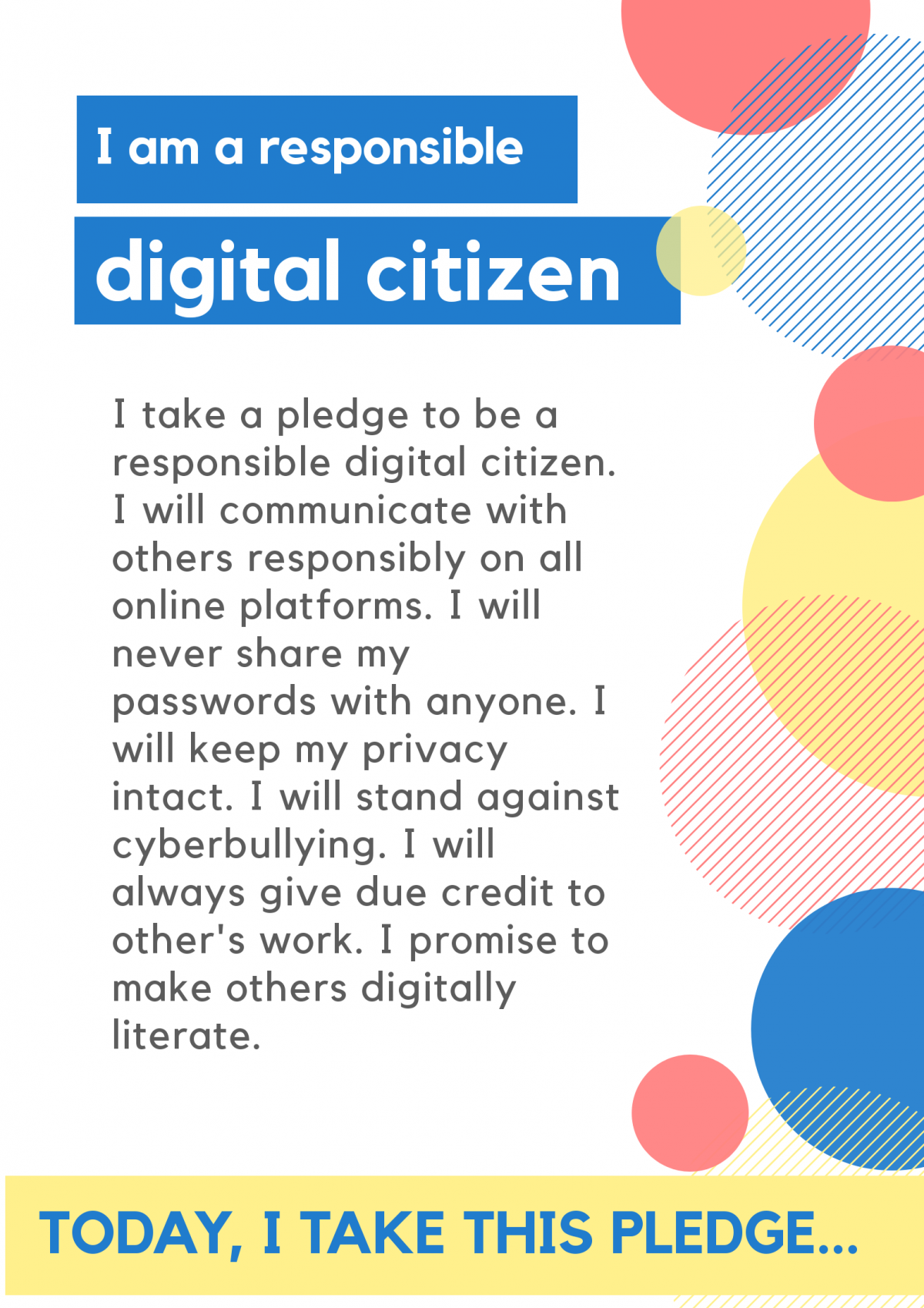Pledge for digital citizenship