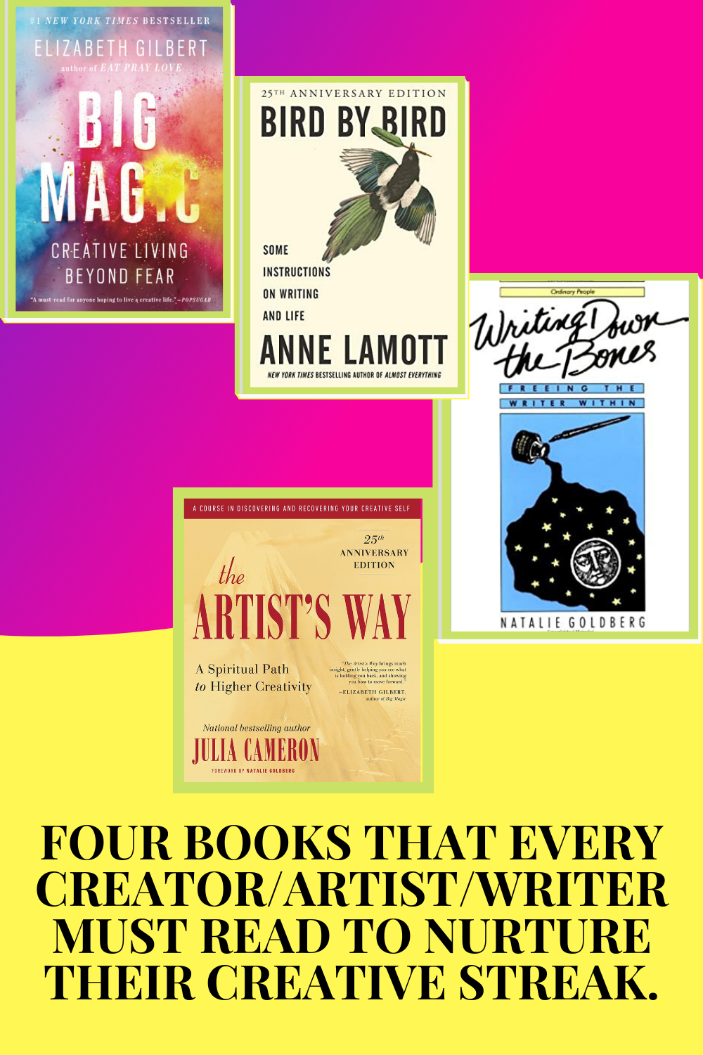 Four life-altering books for every artist, writer or creator